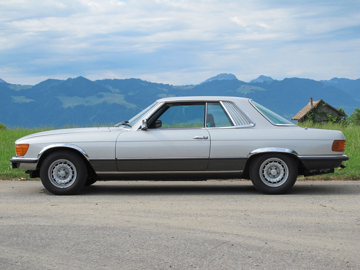 Mercedes Benz 350 SLC Coupé silber 1977