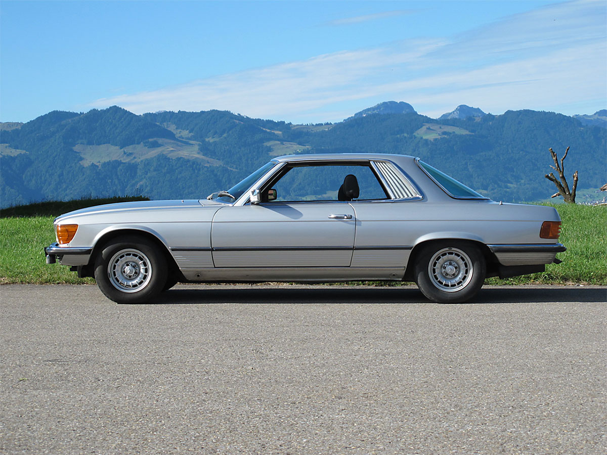 Mercedes Benz 450 SLC Coupé silber 1978