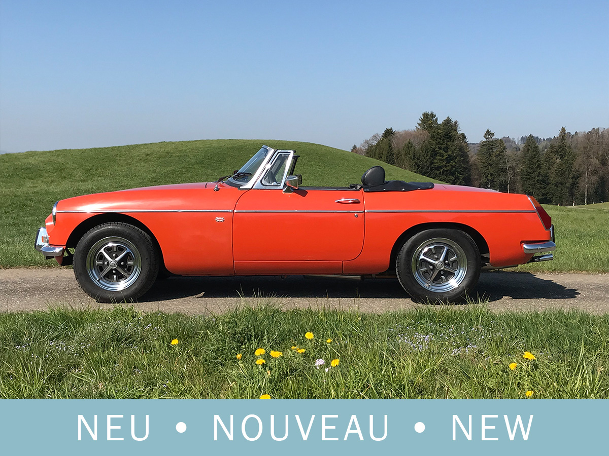 MG MGB Cabriolet orange 1974
