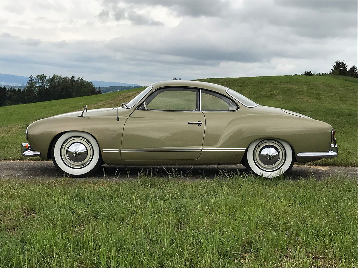 VW Karmann Coupé grün 1956