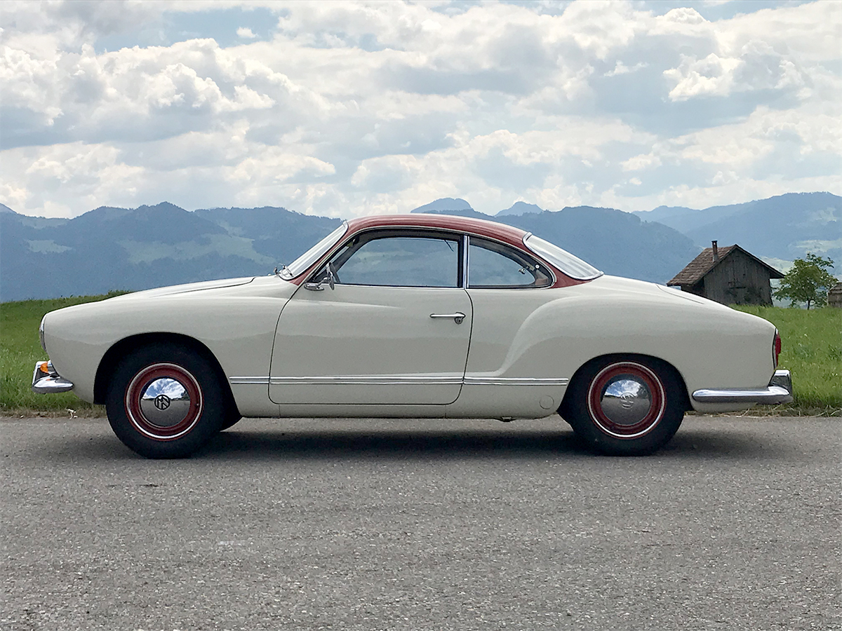 VW Karmann_Ghia Coupé weissrot 1961