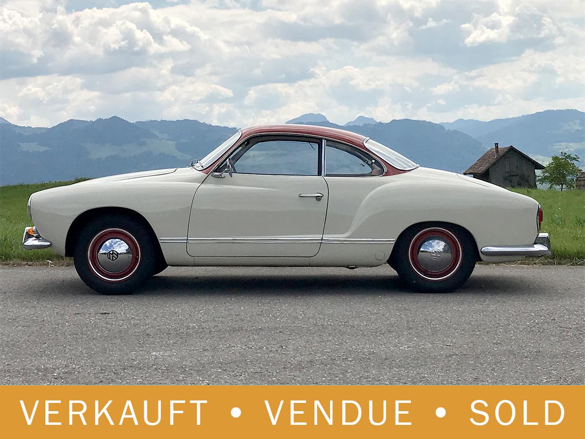 VW Karmann_Ghia Coupé weissrot 1961
