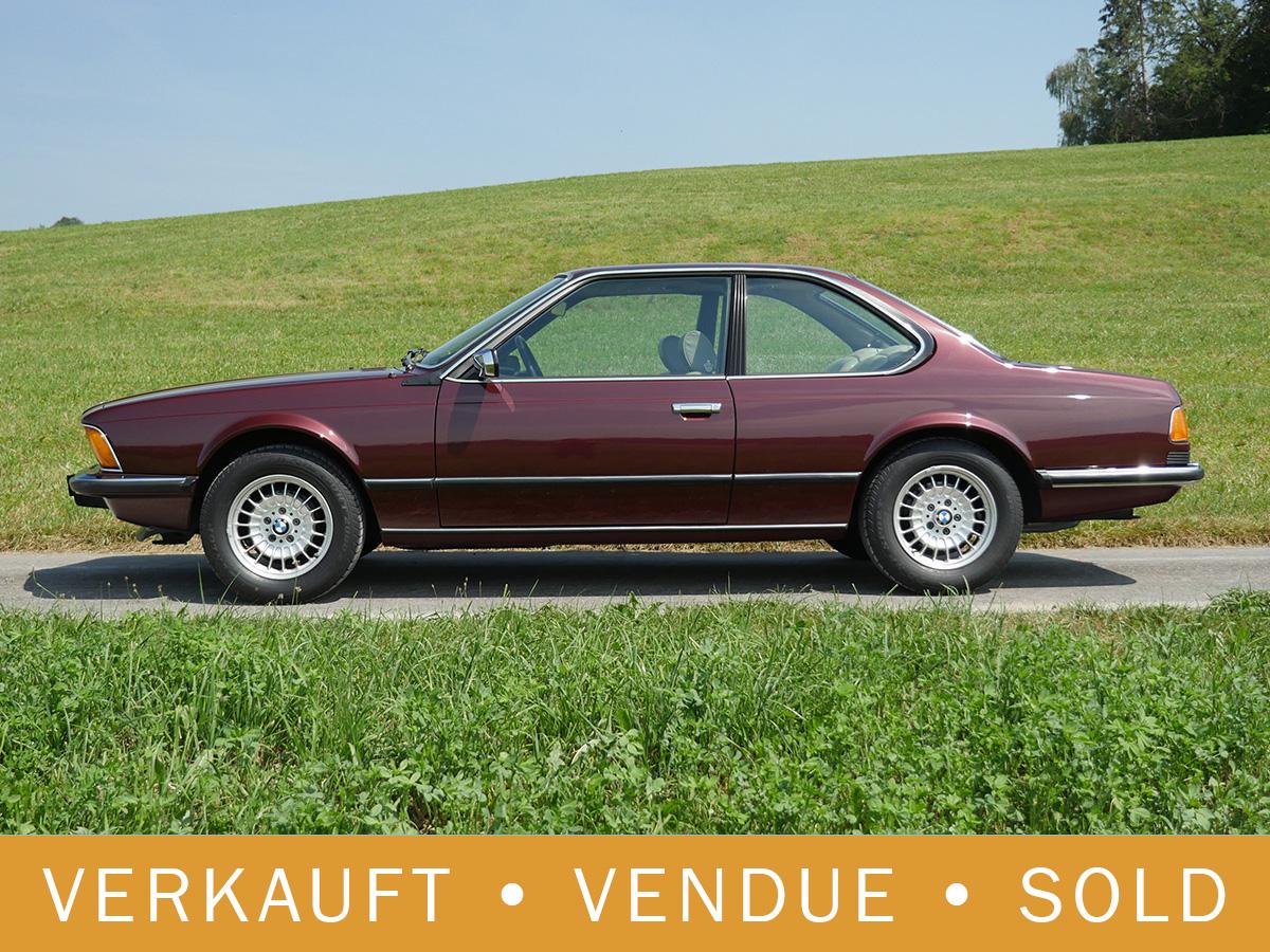 BMW 635 CSi burgunderot 1982