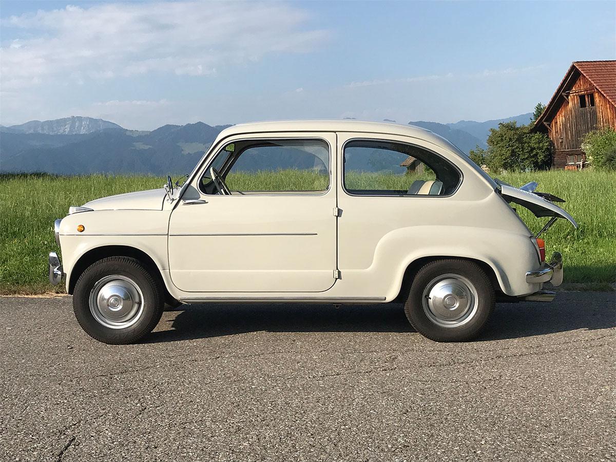 Fiat 600 Abarth beige 1959
