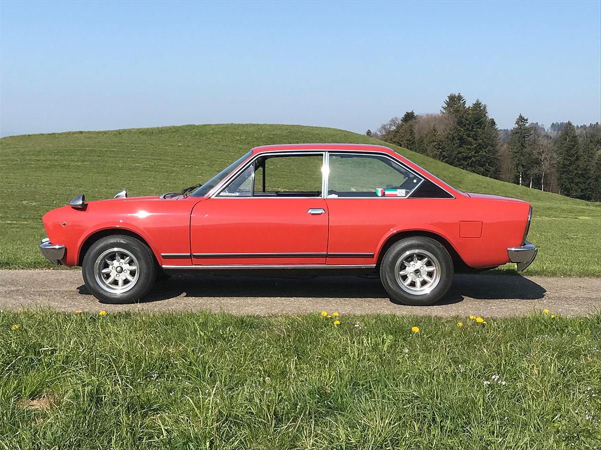 Fiat 124 CC Sport 1600 Coupé rotbraun 1974