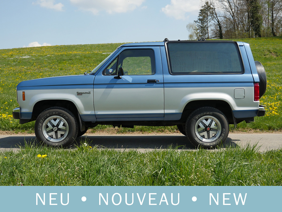 Ford Bronco II XLT 2.9 V6 silber-blau 1989