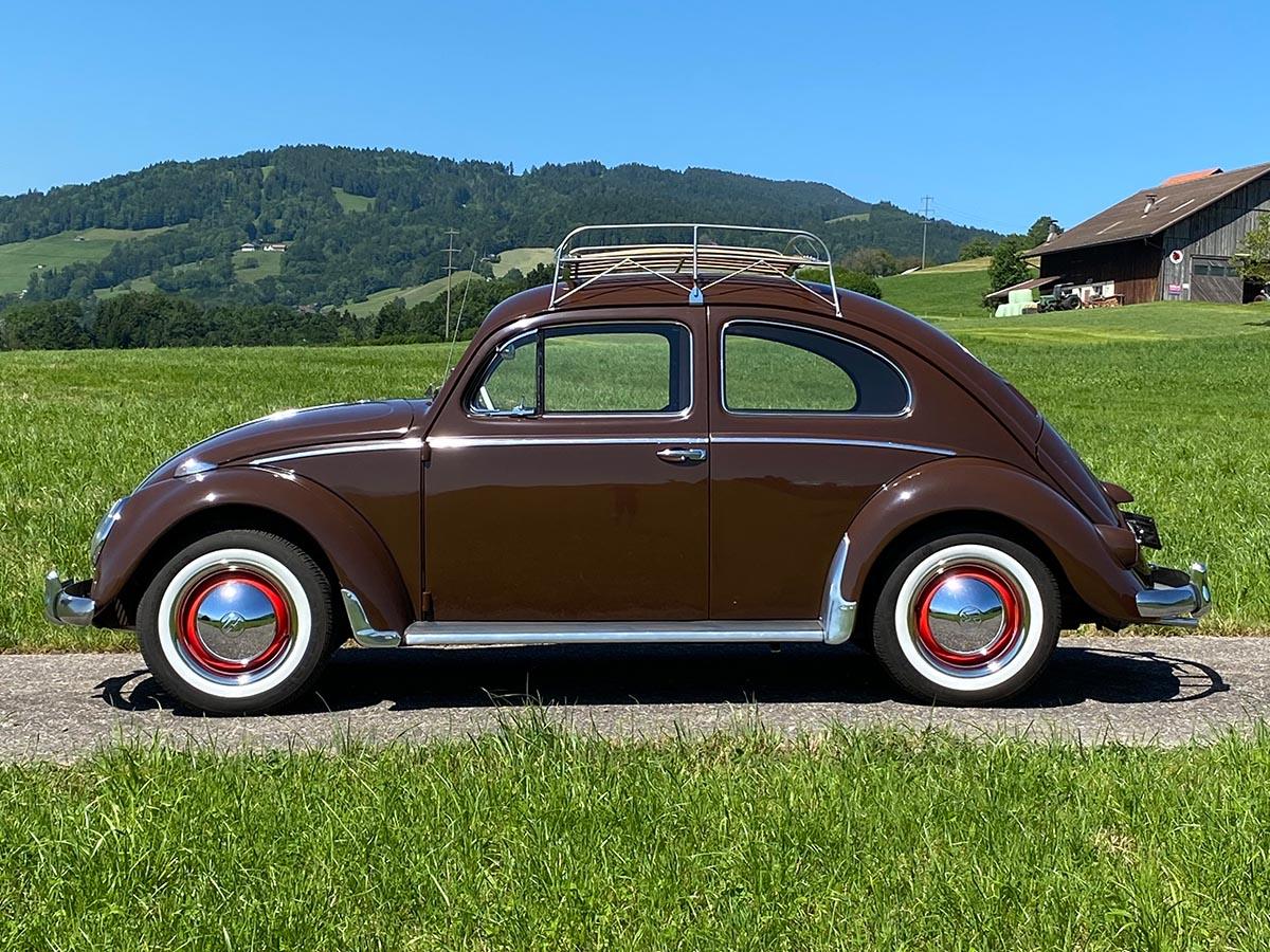 VW Käfer Ovali de Luxe braun 1956