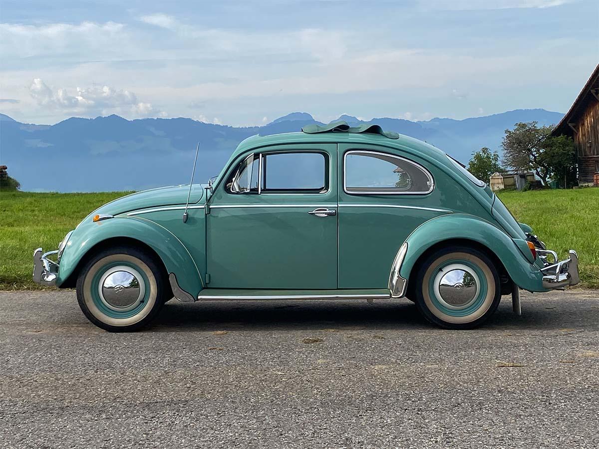 VW Käfer 1200 De Luxe Faltdach Türkis 1962