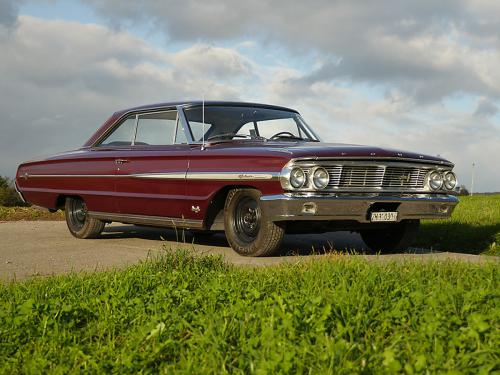 ford galaxie 500 xl 427 r code rubyred 1964  0001 2