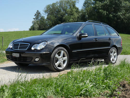 mercedes benz c350 v6 kombi schwarz schwarz 2007 0001 2