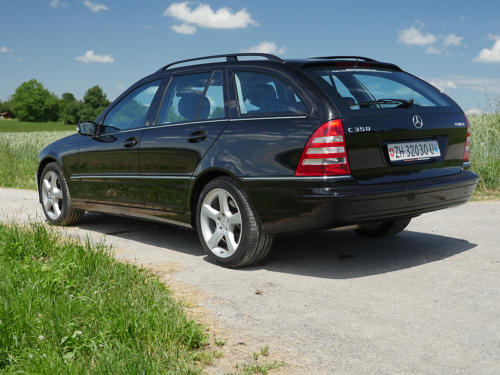 mercedes benz c350 v6 kombi schwarz schwarz 2007 0003 4