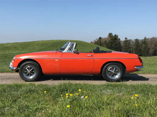 mg mgb cabriolet orange 1974 0000 1