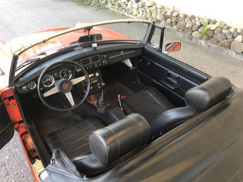 mg mgb cabriolet orange 1974 0009 10