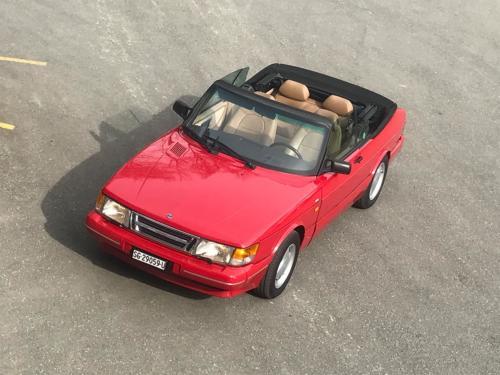 saab 900i cabriolet 16v rot 1990 0014 Ebene 1